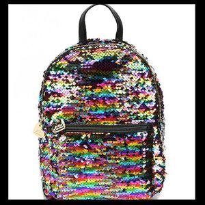 Betsey Johnson rainbow sequin mini backpack